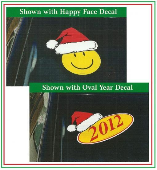 Holiday Decal - Santa Hat