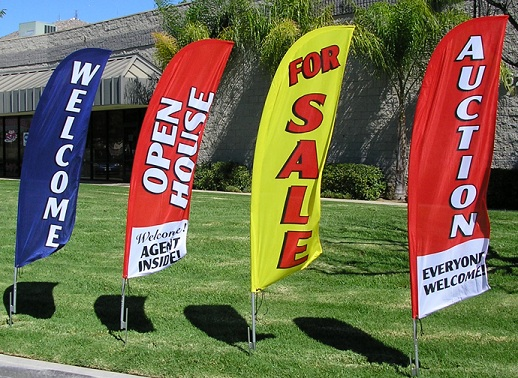 Auto Body /& Paint Brake Service Open King Swooper Feather Flag Sign Kit with Pole and Ground Spike Pack of 3