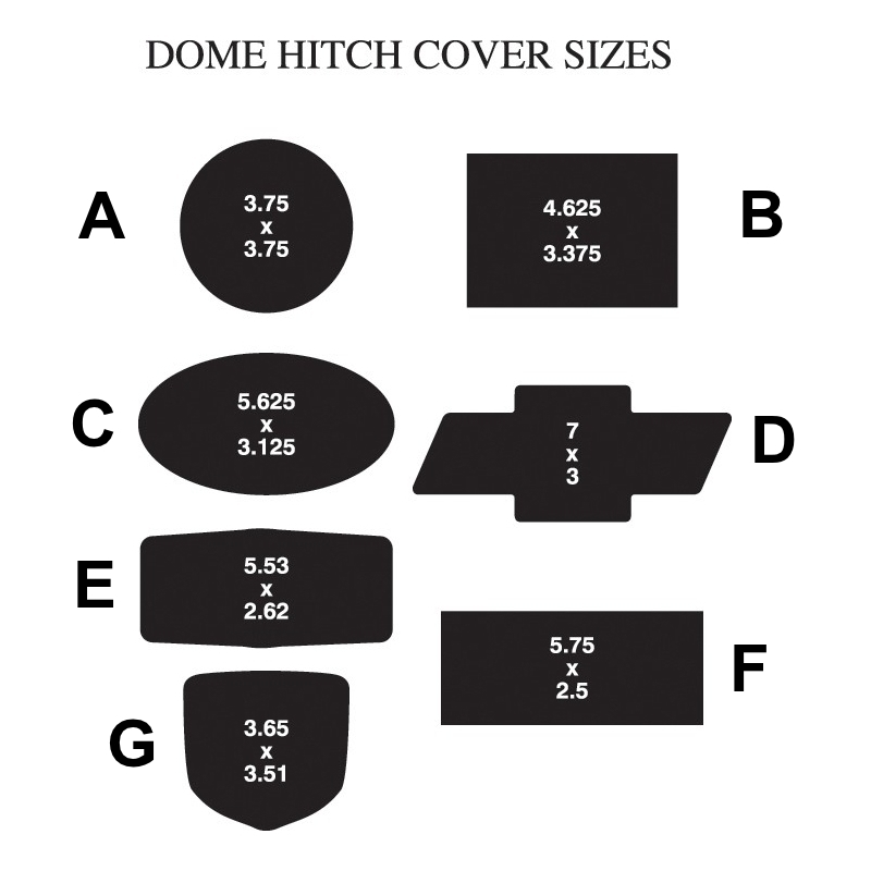 Hitch Cover Style Amp Size Pictures Auto Dealer Supplies
