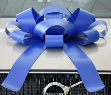 30 Inch Giant Blue Magentic Car Bow #531 Jum-bow