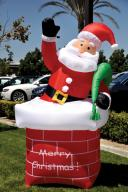 Holiday Inflatable Santa With Chimney